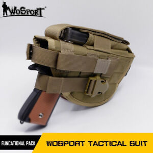 Military Airsoft Tactical Molle Classic Gun Holster with Mag Pouch for Pistol