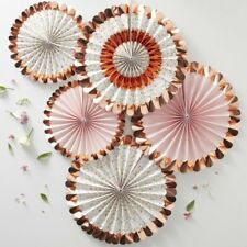 ROSE GOLD FOILED FLORAL FAN DECORATIONS - Wedding, Hen Night, Baby Shower, Party