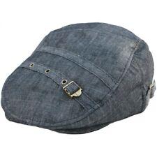 New Black Denim Flat Cap Boy Hat Peaky Blinders M 1990's