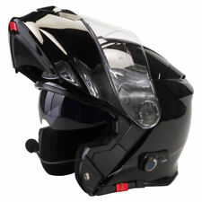 VIPER RS-V171 BLUETOOTH FLIP FRONT MOTORBIKE MOTORCYCLE HELMET GLOSS BLACK