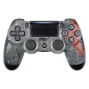 PS4 Controller Cover Case Hülle Gehäuse Schale God of War Style Slim Pro V2