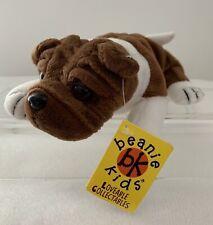 Rare Vintage Skansen Beanie Kids, Spike The Bullie, Dog, 1997, Toy, Swing Tag #4
