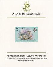 Belize 5103 - 1984 MARINE LIFE 1c imperf on Format International PROOF  CARD