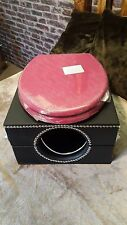 deluxe pink toilet bowl box, black with locks and restraint points,bondage,