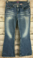Bubblegum Womens Blue Denim Jeans Distressed Size 7/8 Made in the USA