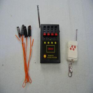 DB04R 4 Cues Fireworks Firing System Music Effects Radio Fire Receiver Transmitt