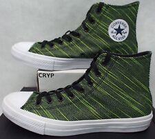 Mens 10 Converse Chuck Taylor All Star CTAS 2 Hi Black Volt Green 151086C $80