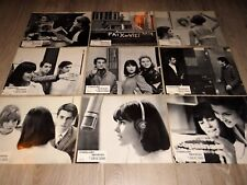jean luc godard MASCULIN FEMININ chantal goya  9 photos cinema lobby cards 1966