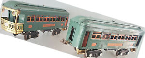 Lionel 339 Pullman 341 Observation Peacock Green Passenger Cars 1928 to 1930
