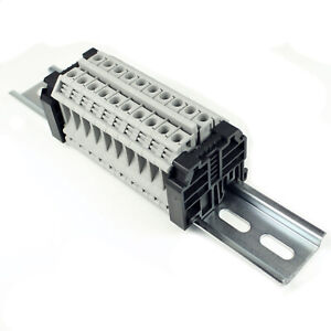 Solar Combiner Box Connecter, 10 Gang, 24-8 AWG, 50 Amp, 300 Volt