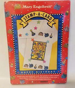 Mary Engelbreit Create Stamp-A-Card Happy Birthday All Night Media Rubber Set