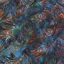 Hoffman Batik Bali Chop All-Over Peacock Feathers K2480-317 Macaw Batik BTY