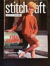 Stitchcraft Magazine: March 1968, Knitting Crochet, Embroidery