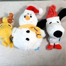 BARK BOX Dog Toy YOU'RE A SNOWMAN CHARLIE BROWN Reindeer Woodstock Snoopy Peanut
