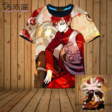 Anime NARUTO Gaara T-shirt Unisex Full Color Short Sleeve Tops Cosplay