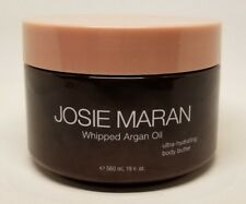 JOSIE MARAN WHIPPED ARGAN OIL BODY BUTTER PEPPERMINT BARK 19 OZ NEW UNSEALED!