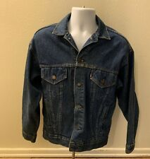 Levi Strauss Blue Jean Jacket Men Size Small Button Down Western USA Made
