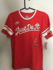 New Nike Vintage Baseball Just Do It Classic Red Sportswear 839680-696 Size S