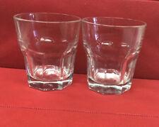 2 Libbey Duratuff Gibraltar Clear Rocks Glasses 8oz Cocktail Mancave Bar Patio