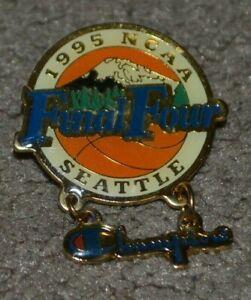 Vtg 1995 NCAA Final Four Seattle Dangle Basketball Pin Champion