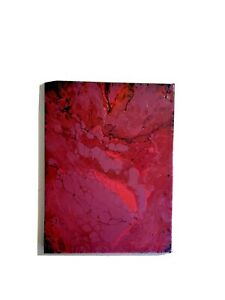 Pink Acrylic pour painting on canvas