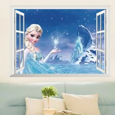 FROZEN ELSA 3D Window View Decal Wall Sticker Home Decor Art Mural Disney Kids