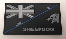 Thin Blue Line, Sheepdog, Police Rubber Patch, Hook, Law Enforcement,  Subdued
