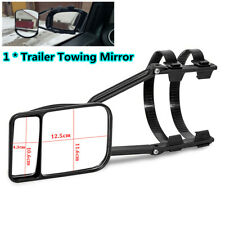 1XTrailer Towing Dual Mirror Clip-on Wing Mirror Extension Glass for Car Caravan