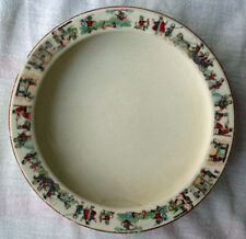 ANTIQUE EDWIN KNOWLES BABY INFANT CEREAL FOOD DISH NURSERY RHYME PUSS & BOOTS