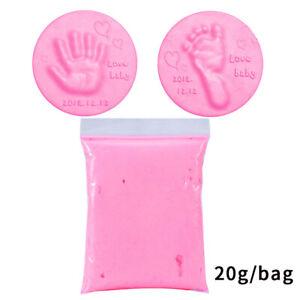 Soft Baby Care Air Drying Clay Baby Handprint Footprint Imprint Kit Casting 20g