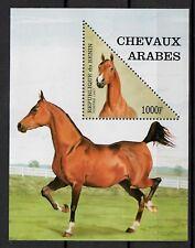 (W1268) BENIN, 1997, HORSES, BL. 27, UM/MNH, SEE SCAN