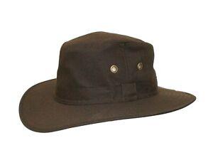 Brand New Men's Brown Wax Outdoor Bush Waterproof Fishing Hat Colombia