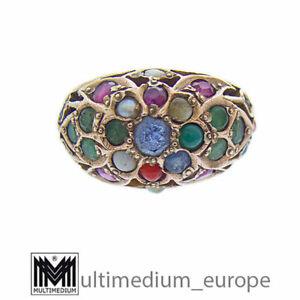 Art Deco Gemüsering 585 Gelbgold Damen Fingerring 14ct gold ring 🌺🌺🌺🌺🌺