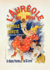 Auréole du Midi by Jules Cheret 90cm x 64cm Art Paper Print