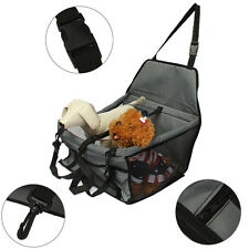 Pet Dog Cat Car Safety Booster Seat Portable Travel Carrier Cage Crate Adjustabl