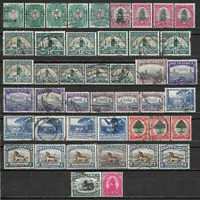 1933-1954 SOUTH AFRICA Set of 44 Used Stamps CV $12.40