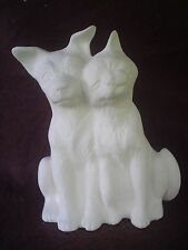 """C576 - Ceramic Bisque 4.5"""" Snuggling Cat & Dog - Ready to Paint"""
