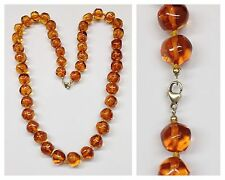 Long Amber Necklace 70,5 CM Chain with Lock Amber Jewelry Necklace