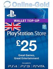 £25 Pfund Playstation Store Card Key / PS3 PSP PSN - UK