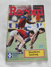 1986 VFL AFL Football Record Hawthorn Hawks v Geelong Cats Vol.75 No.21