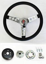 """1964-1966 Oldsmobile F85 442 Cutlass 98 Black & Chrome Steering Wheel 14 1/2"""""""