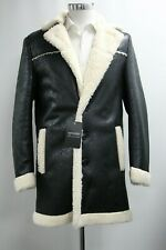 Men's Boohoo Faux Leather Black Lined Jacket (M).. Ref: 7052