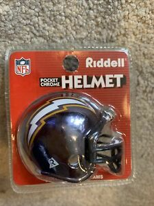Riddell NFL Pocket Chrome Helmet Los Angeles Chargers?? NFL Football New Package