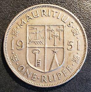 Mauritius 1951 1 Rupee - George VI