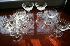 "6 WATERFORD CRYSTAL ""INNISFAIL"" TALL CHAMPAGNE COUPES/GLASSES SUPER COND. 5.3/8"""