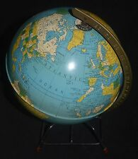 Vintage Replogle Globes Simplified 8 Inch Globe Tin Litho Gustav Brueckmann