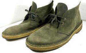 Clarks Original Desert Boot Olive Green Leather Sand Sole Size 8M US Men's