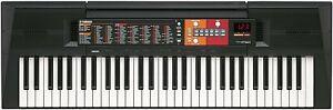 Yamaha Digital Piano PSRF51 Portable Keyboard 61 Keys Bundle, Black