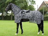Busse Ausreitdecke Moskito Zebra, Fliegendecke Fliegenschutz schwarz weiß, neu