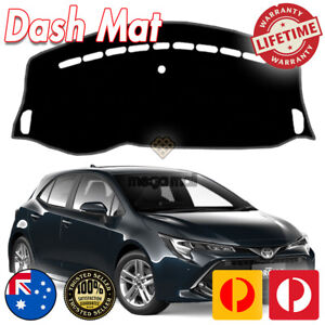 Non Slip Dash Mat Cover Black for 2019 2020 Toyota Corolla Sedan Hatch MY20